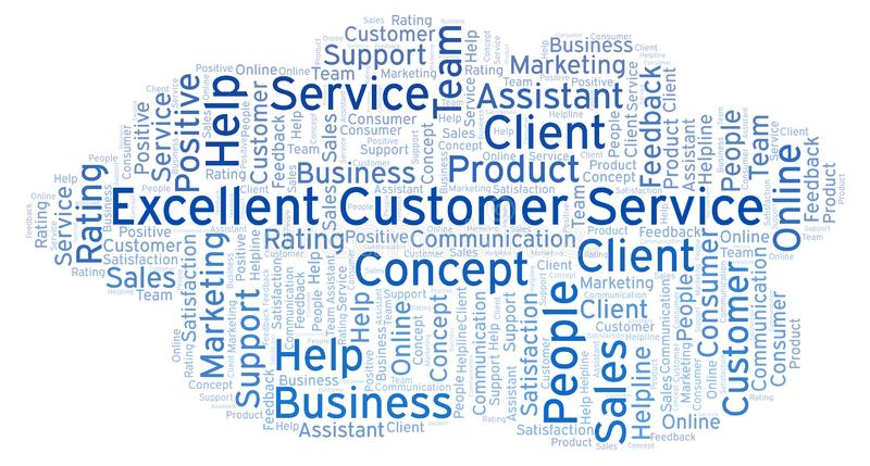 Excellent Customer Service Word Cloud  Stock Illustration
