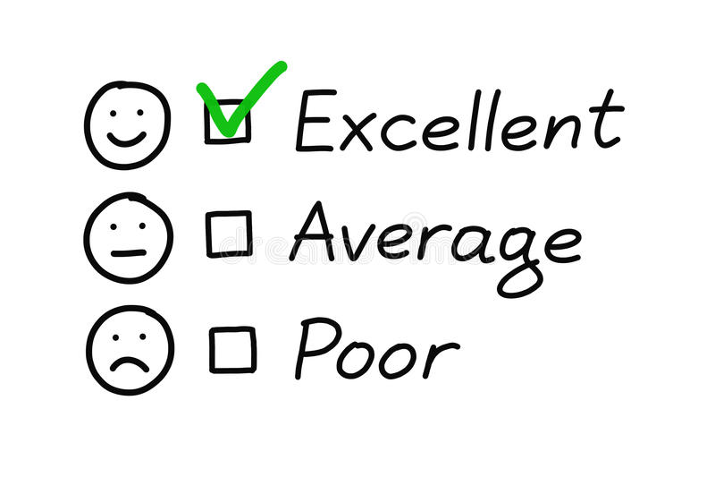 Excellent Customer Survey vector illustration