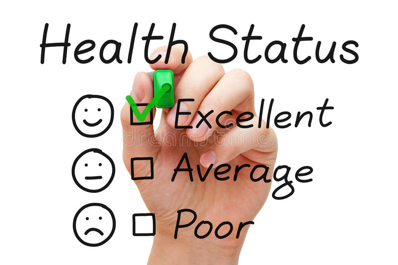 Excellent Health Status Survey royalty free stock images
