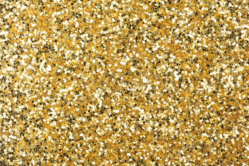 Excellent holographic glitter texture, new golden wallpaper for shiny desktop. royalty free stock photos