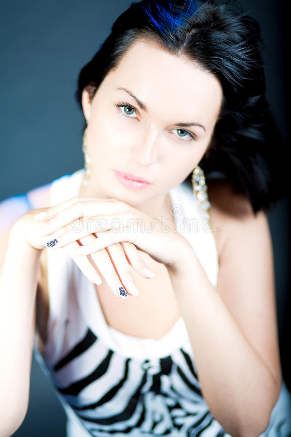 Download Excellent Manicure Of Young Caucasian Girl Stock Image - Image: 12375629