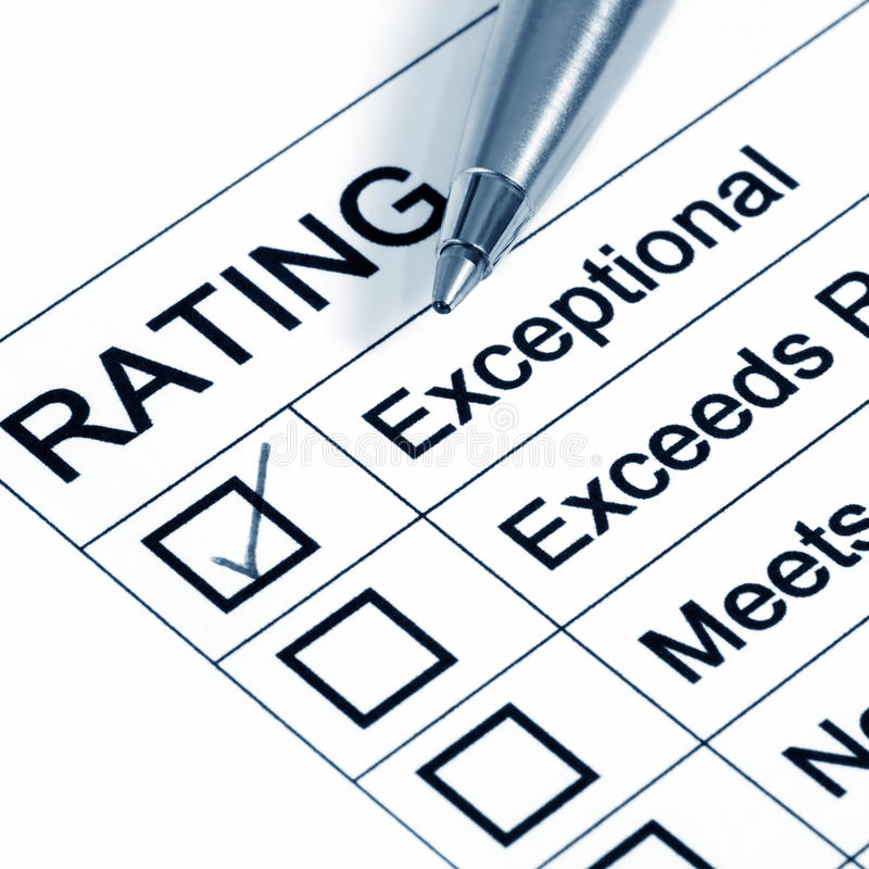 Excellent Rating stock photo