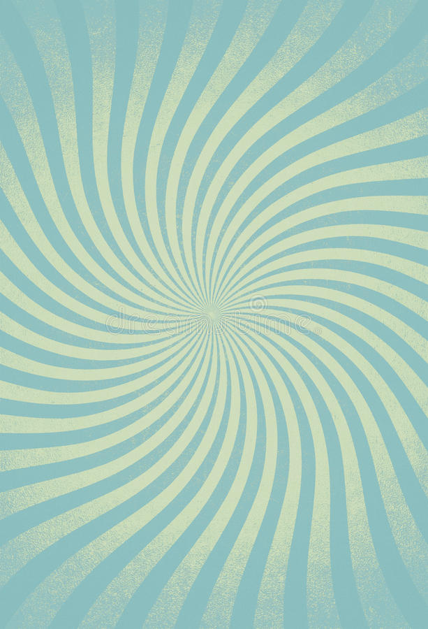 Excellent swirled sun rays vintage grunge framed background royalty free stock image