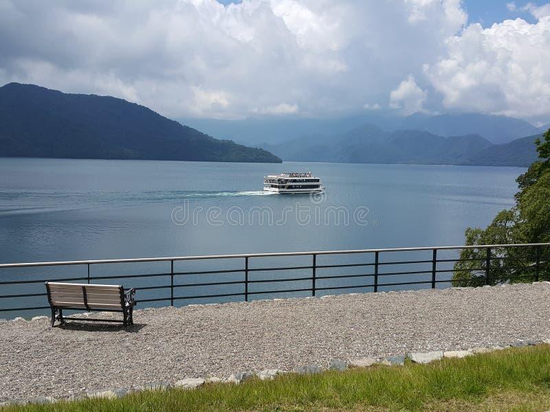 Excellent view at Chuzenji lake. You will enjoy with the Excellent view at Chuzenji lake in front of the British Embassy Memorial Park in Nikko, Tochigi, Japan stock image