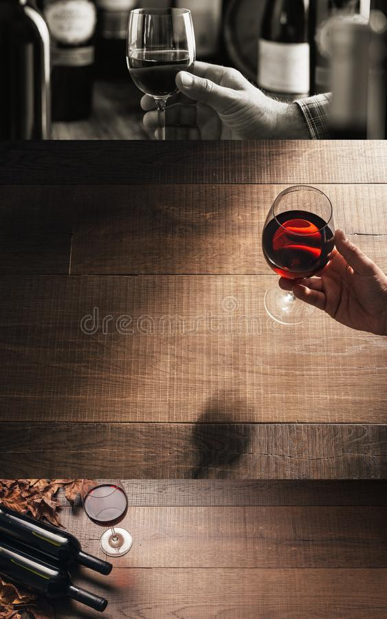 Wine tasting at the winery royalty free stock images