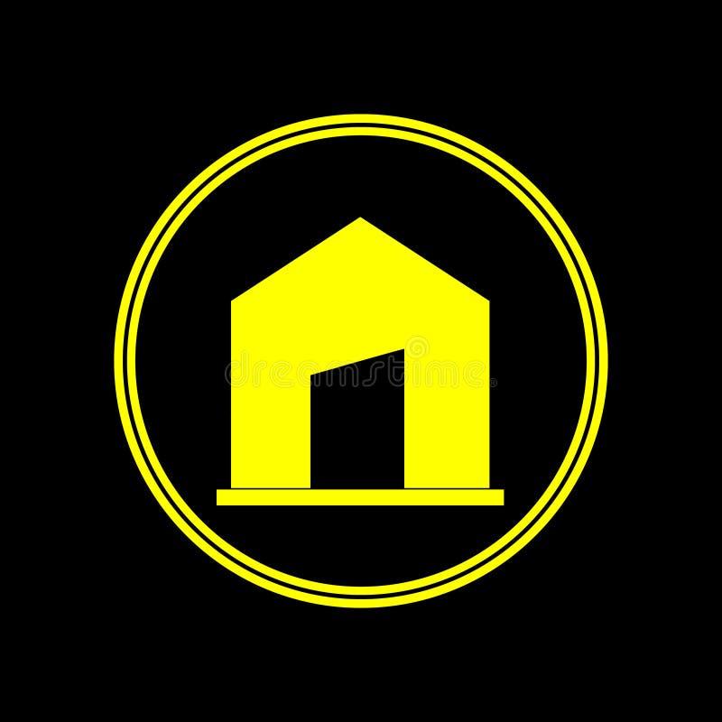 Excellente conception unique de logo sous forme de maison illustration de vecteur