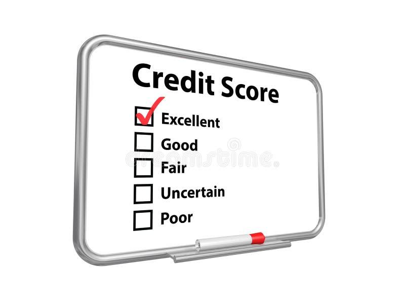 Excellente rayure de crédit images stock