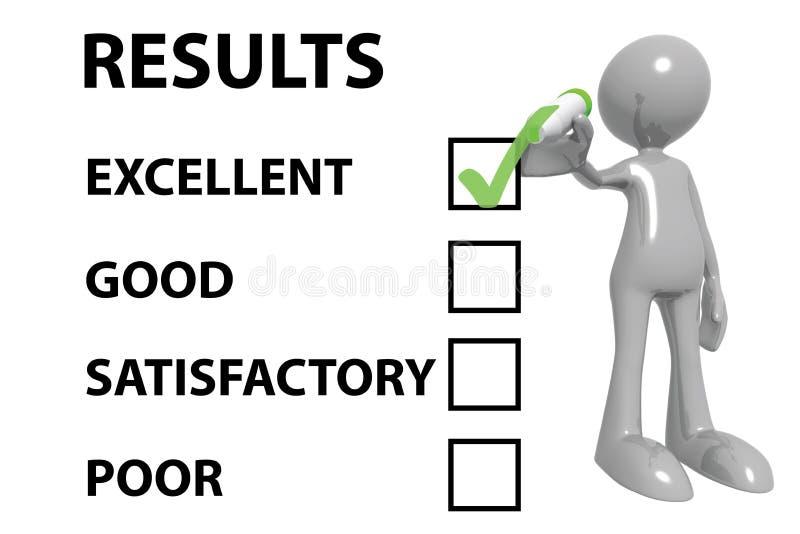 Excellents résultats illustration libre de droits