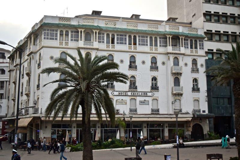 Excelsior hotell i Casablanca arkivbild