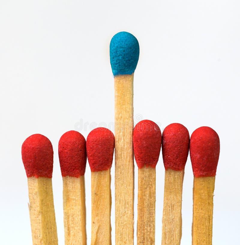 Exception du chef un, couleurs concurrentielles d'adantage photos libres de droits