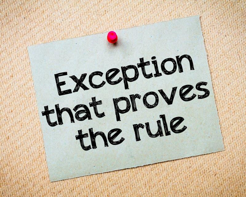 Exception qui prouve la règle image libre de droits