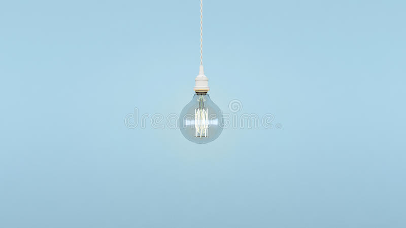 Exceptionnel minimal de lampe au centre photo stock