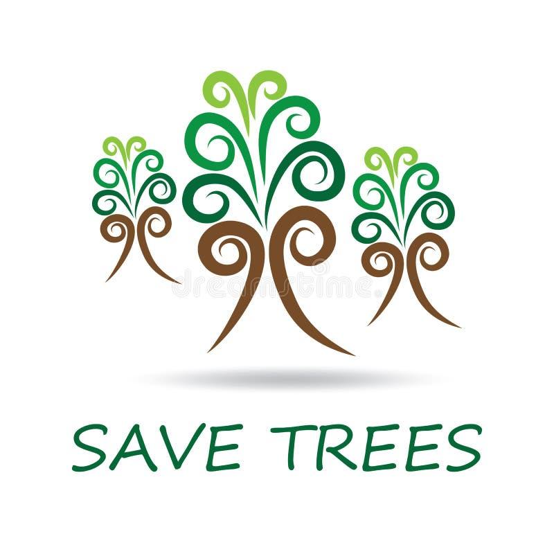 Excepto árvores ilustração royalty free