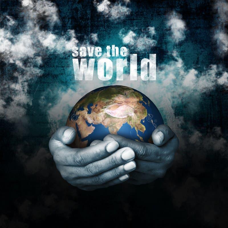 Excepto/ajuda o mundo ilustração do vetor