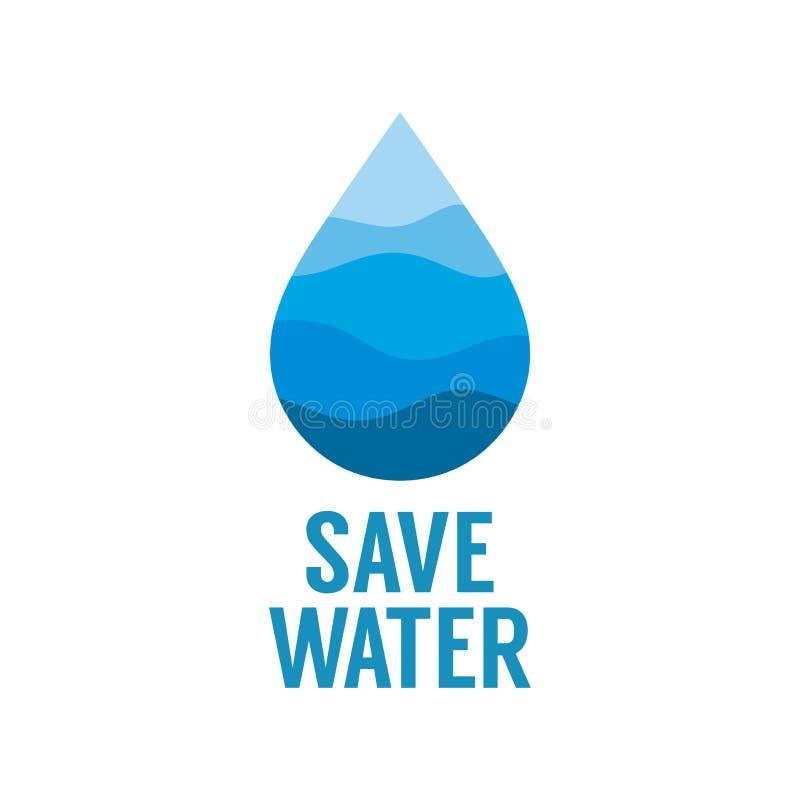 Excepto concepto del agua D?a del agua del mundo ilustración del vector