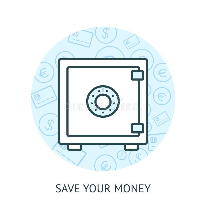 Excepto concepto del dinero ilustración del vector