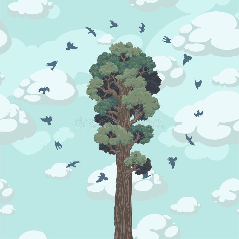 Excepto el bosque ilustración del vector