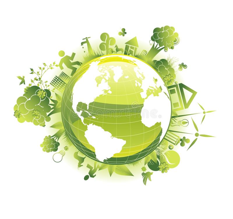 Excepto el concepto de la ecología del planeta libre illustration