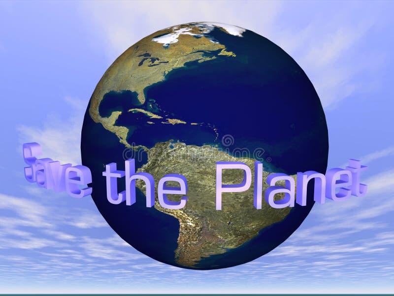 Excepto el planeta stock de ilustración