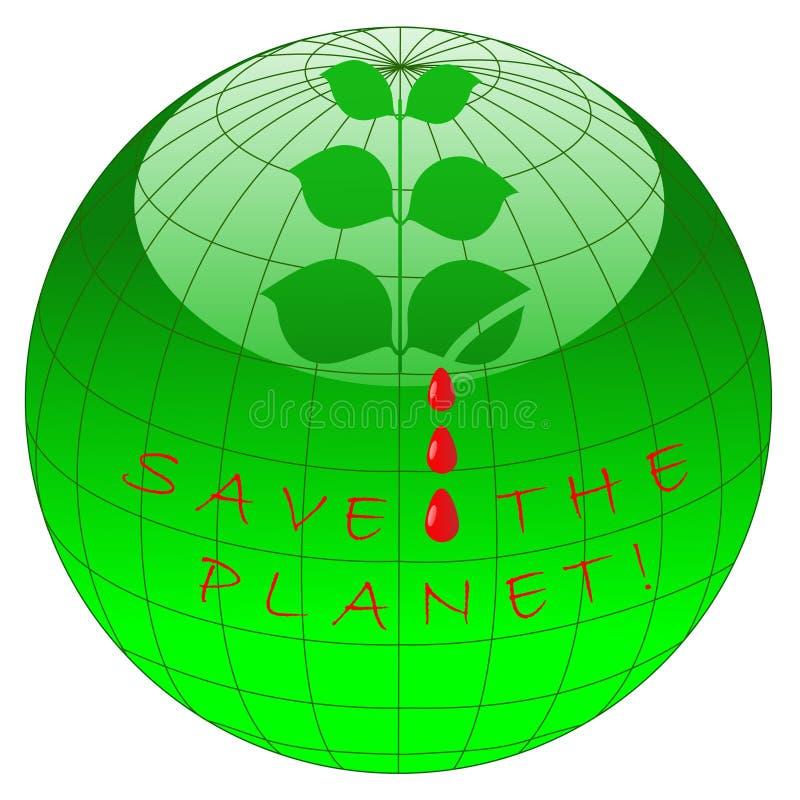 Excepto el planeta ilustración del vector