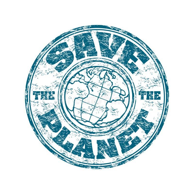 Excepto el sello del planeta ilustración del vector