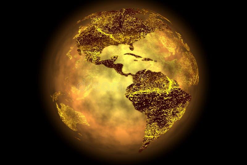 Excepto nosso planeta ilustração do vetor