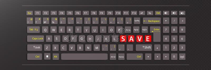 Excepto o conceito teclado da ilustração ilustração do vetor
