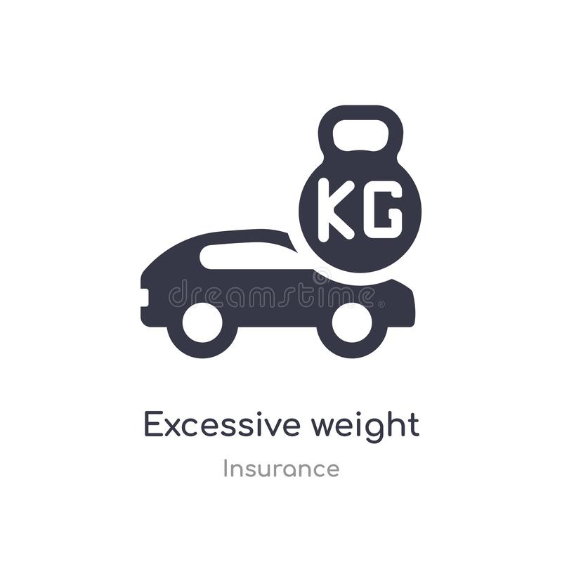 excessive weight for the vehicle icon. isolated excessive weight for the vehicle icon vector illustration from insurance royalty free illustration