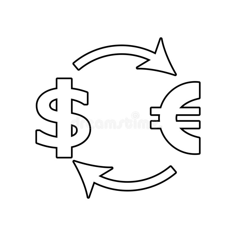 exchange dollar euro icon. Element of Communism Capitalism for mobile concept and web apps icon. Outline, thin line icon for vector illustration