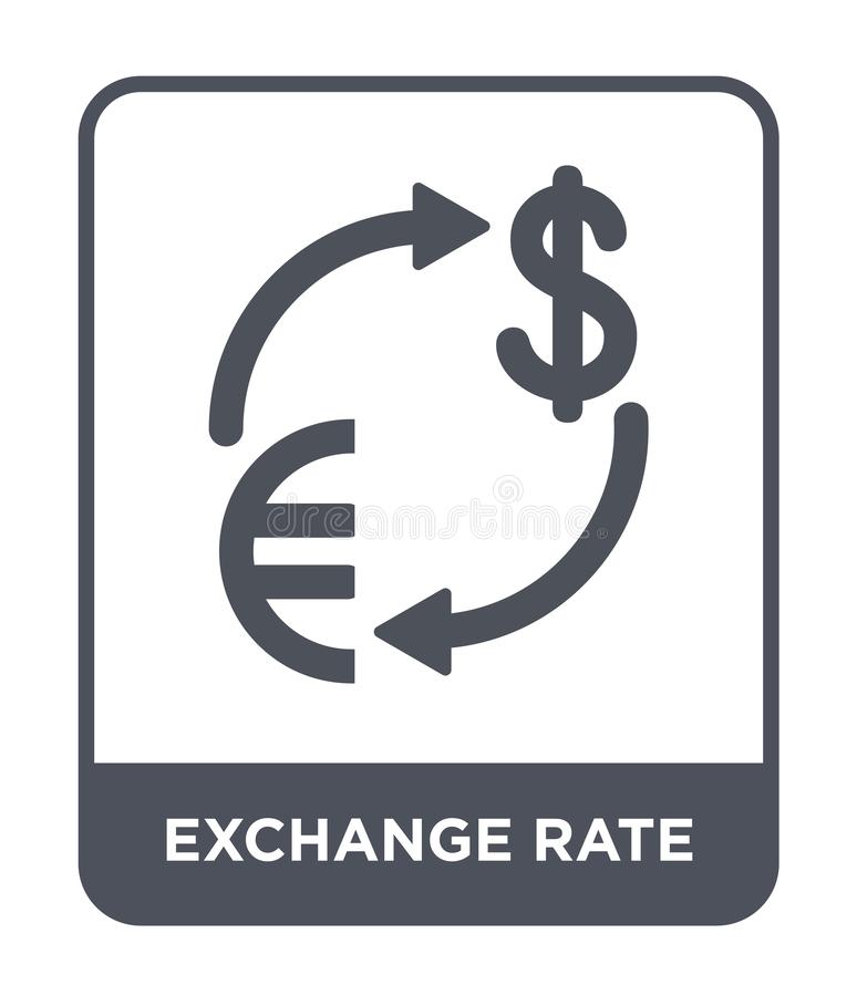 exchange rate icon in trendy design style. exchange rate icon isolated on white background. exchange rate vector icon simple and royalty free illustration
