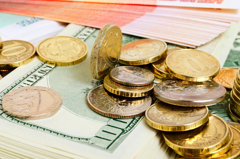 Exchange Rates. Financial and economic news and forecasts royalty free stock images