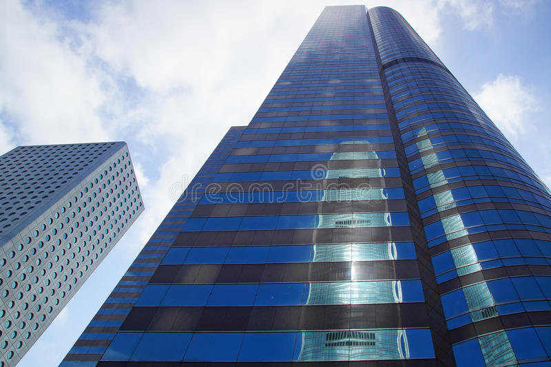 Exchange Square Tower. Hong Kong royalty free stock images