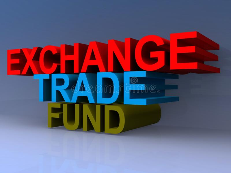 Exchange trade fund heading vector illustration