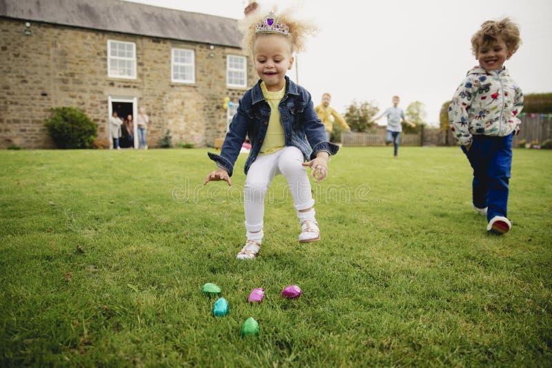 Excitado para algunos huevos de Pascua imágenes de archivo libres de regalías