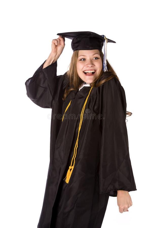 Excitado para graduar-se fotografia de stock royalty free