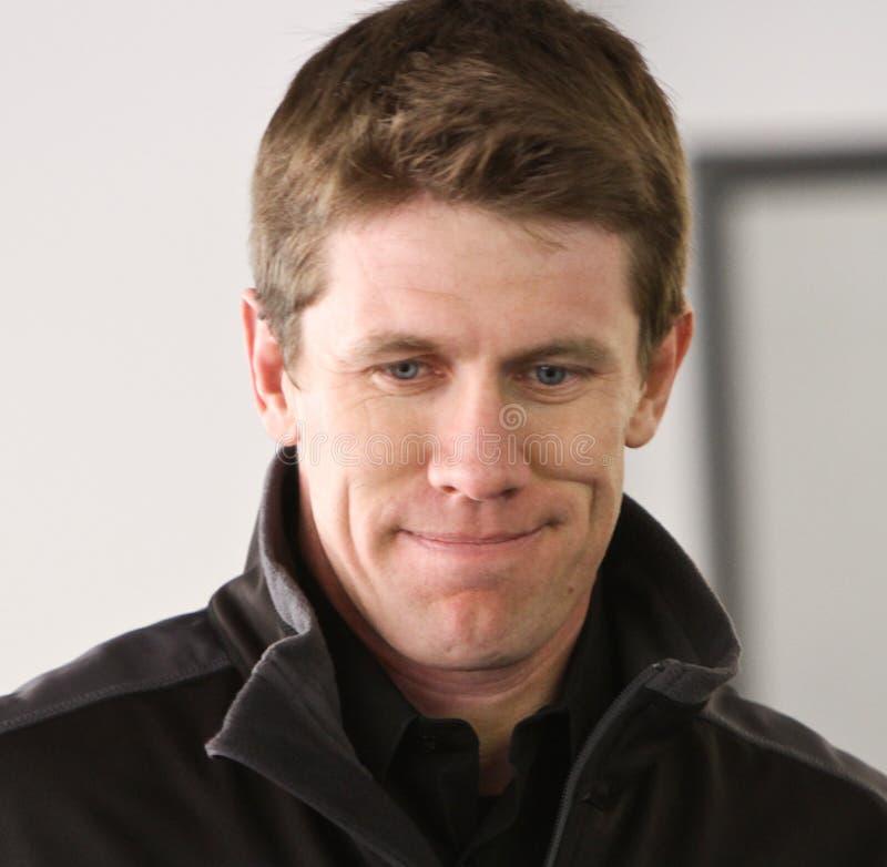 Excitador Carl Edwards de NASCAR fotografia de stock royalty free