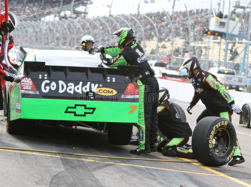 Excitador Danica Patrick de NASCAR imagens de stock royalty free
