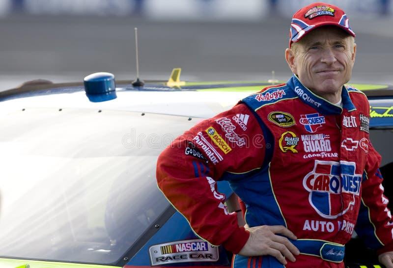 Excitador de NASCAR, Mark Martin foto de stock royalty free