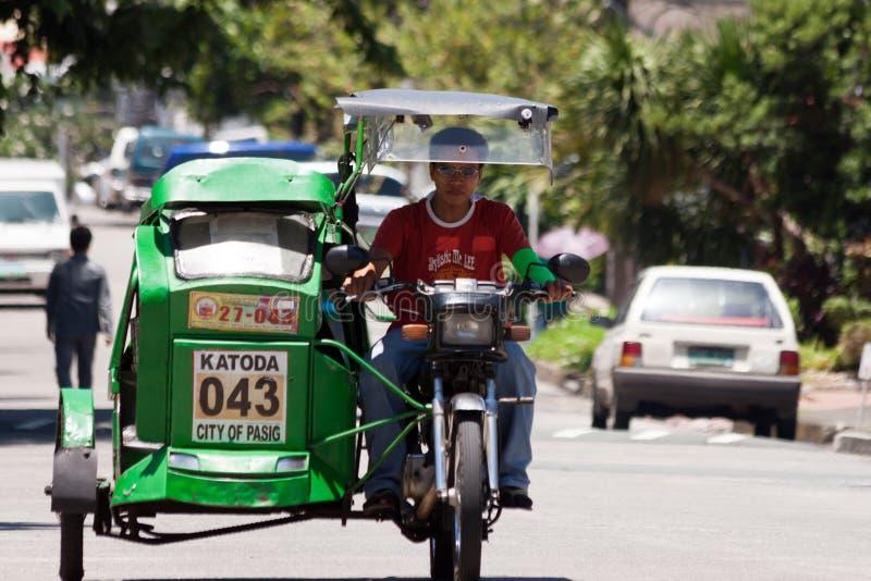 Excitador de táxi do triciclo imagem de stock royalty free