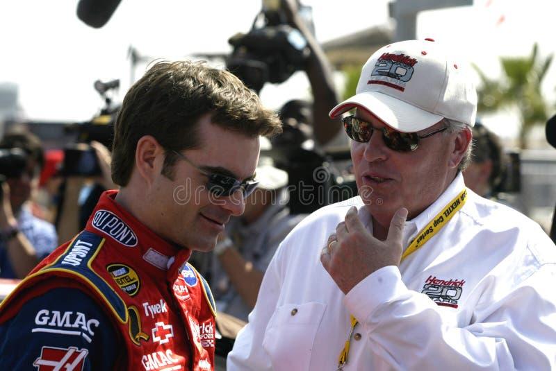 Excitador Jeff Gordon de NASCAR foto de stock royalty free