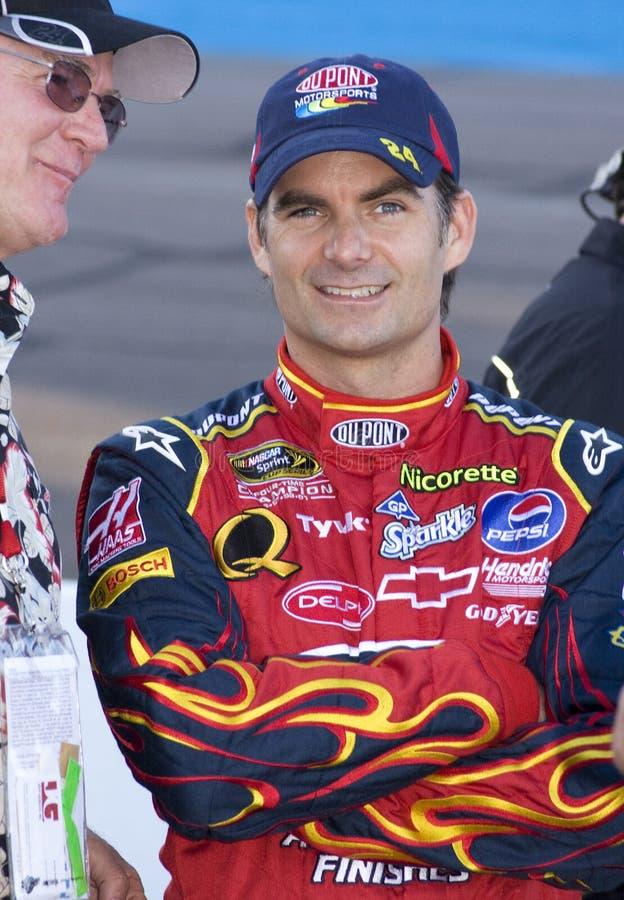 Excitador Jeff Gordon do copo de NASCAR foto de stock royalty free
