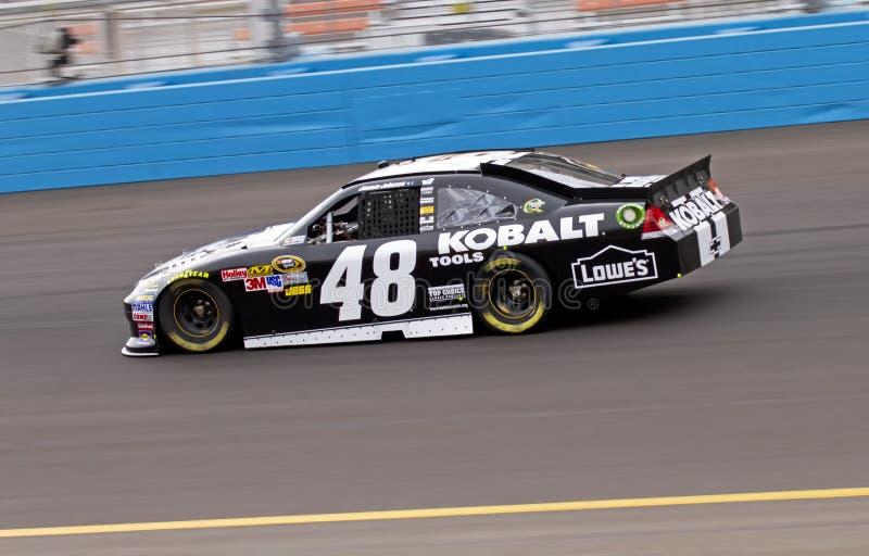 Excitador Jimmie Johnson de NASCAR fotos de stock royalty free