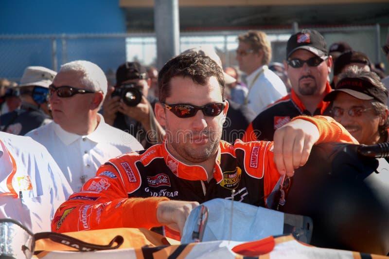 Excitador Tony Stewart de NASCAR fotografia de stock royalty free