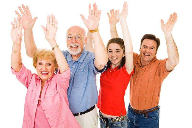 Excitamento da família foto de stock royalty free