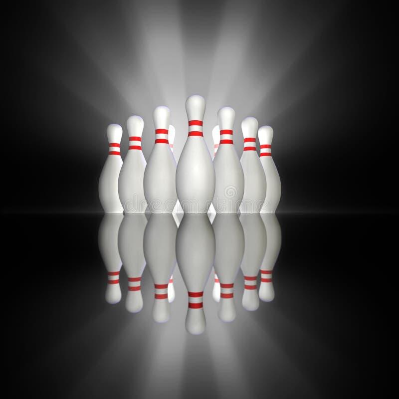 Excitation de bowling illustration libre de droits