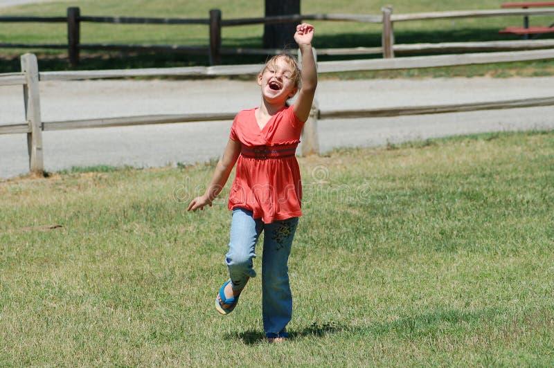 Excited девушка стоковое фото