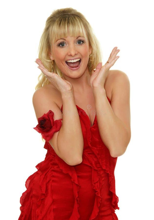 excited женщина стоковая фотография rf