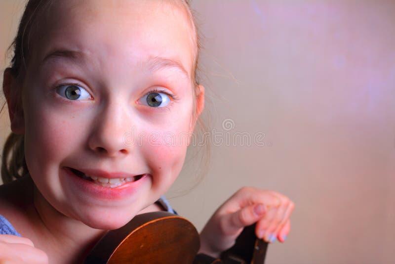 Excited маленькая девочка стоковые изображения rf