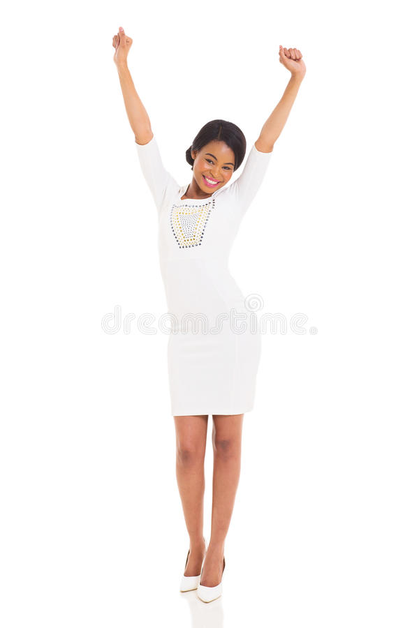 Download Excited african woman stock photo. Image of body, female - 35468654