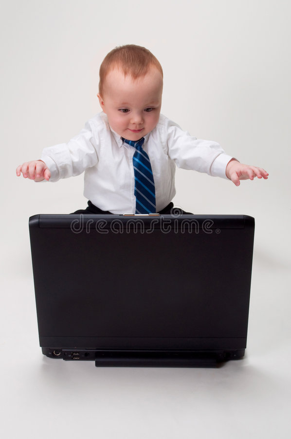 Download Excited Baby Businessman Royalty Free Stock Photo - Image: 8459225